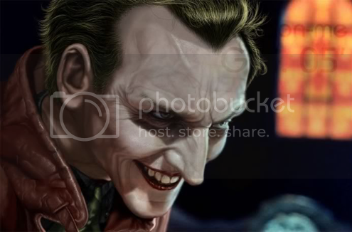 Christopher Eccleston Joker art